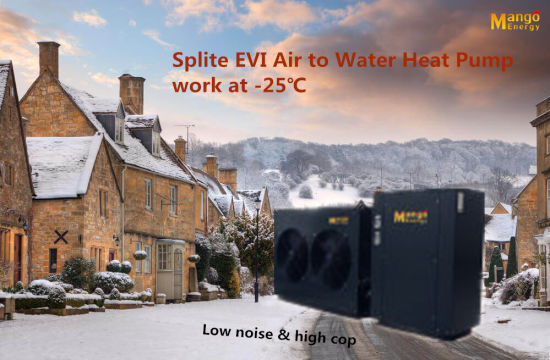 Power World Hot Selling Evi Split Heatpump 55 Celsius Degree Water Temperature