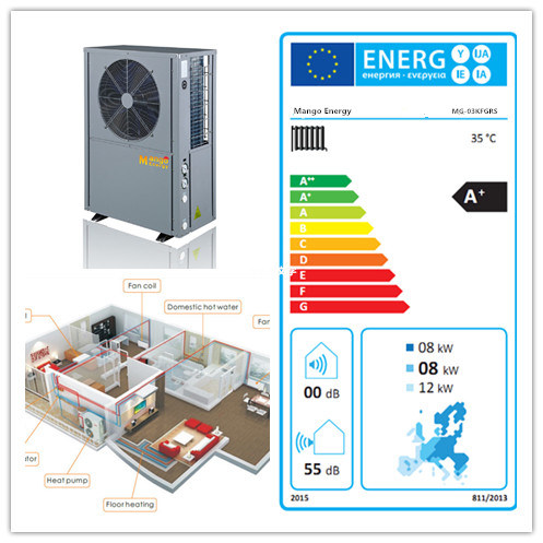 Mango Energy Manufacturer High Cop & Low Noise Air to Water Heat Pump