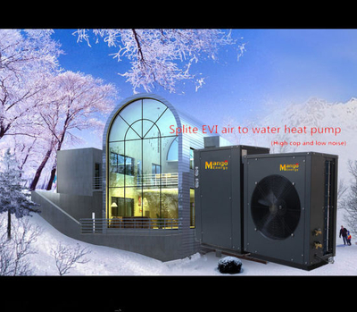 Evi Heat Pump Water Heater Air to Water Split System for Cold Area -25 Degree C (inverter version, heating & cooling)