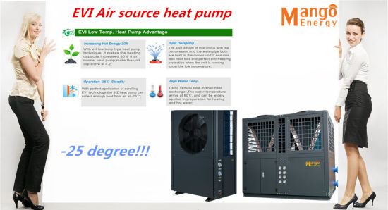 Super High-Efficiency Evi Air Source Heat Pump, Anti-Frosting Protection