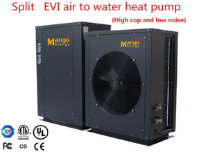 Heating Mode Splite Evi Air Source Heat Pump Use Heat Expansion Valve for Throttling