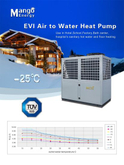High Water Temp for Heating and Hot Water Air Source Evi Heat Pump (CE, TVU, CCC)