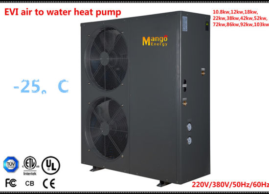 Ce&TUV with ERP Label Low Temperature Evi Air Source Heat Pump for Floor Heating and Hot Water