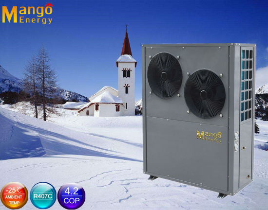 Air Source Evi Low Temperature Water Heat Pump for Room Heating and Cooling with WiFi Control