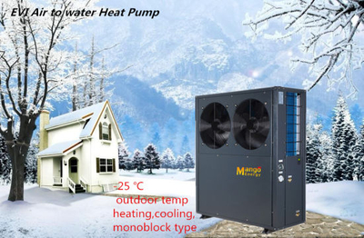 High Efficiency Hot Water Air Water Evi Heat Pumps for House (WiFi remote control)