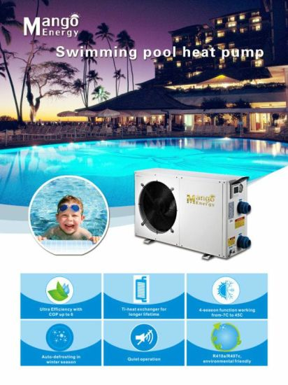 Heating and Cooling Hot Water Swimming Pool Heat Pump